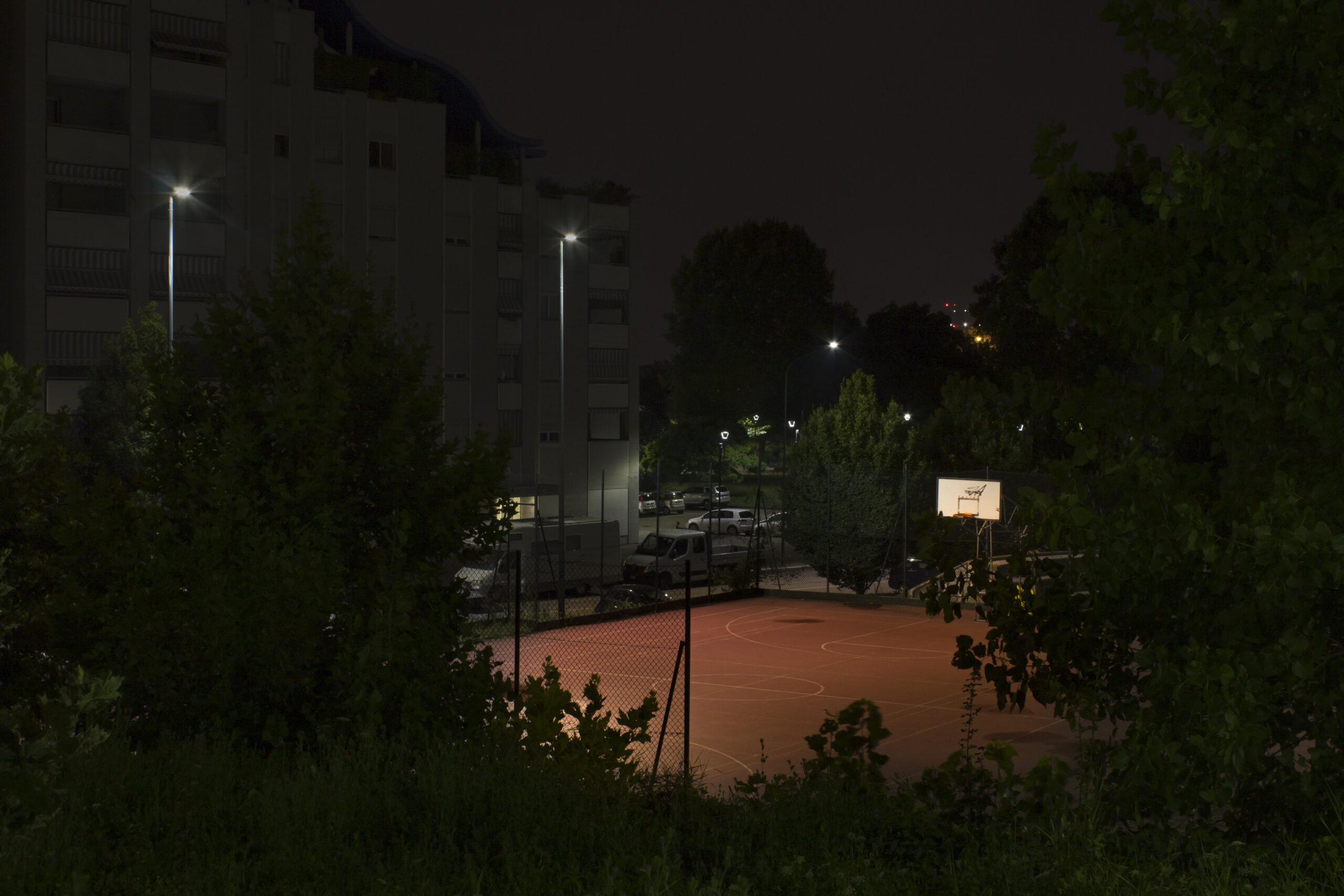 Architettura di notte a Torino Spina 3 Corso Rosselli